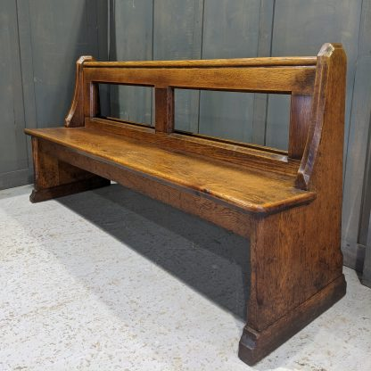 Antique Oak Open Back Church Pews Benches from St Philip, Tottenham