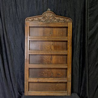 Antique 'Holly & Ivy' Carved Oak Five Hymn Church Hymnboard