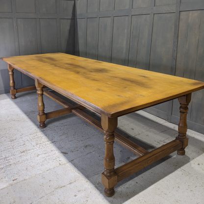 Giant Six Leg 16 Seater Oak Refectory Dining Table