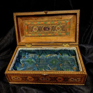 Middle Eastern Vintage Inlaid Marquetry Box