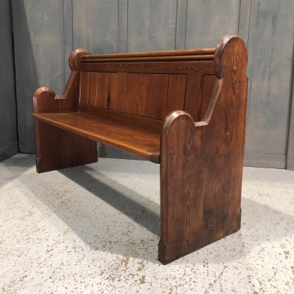 Evesham Victorian 'Round' Ended Pitch Pine Church Chapel Pews Benches