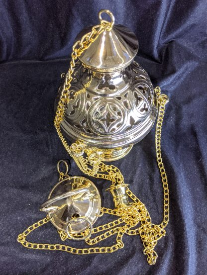 Heavy Brass Gothic Styled Incense Burner Censer Thurible