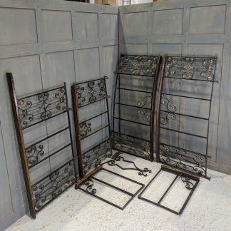 Set of Antique Oak & Iron Altar Rails Railings from St John at Hackney
