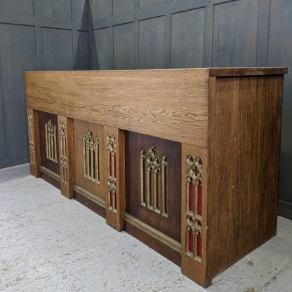 Large Oak Gothic Altar from St Barnabas, Halifax