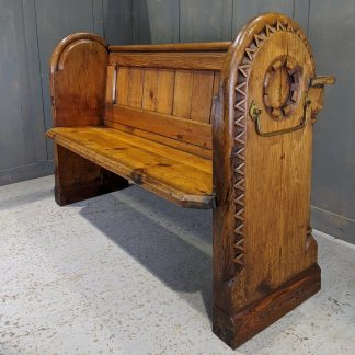 Unique & Exciting Antique 1876 Carved Pine Church Chapel Pews from St Clements, Oxford