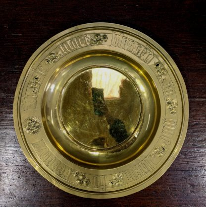 Large Brass Victorian Offertory Collection Plate