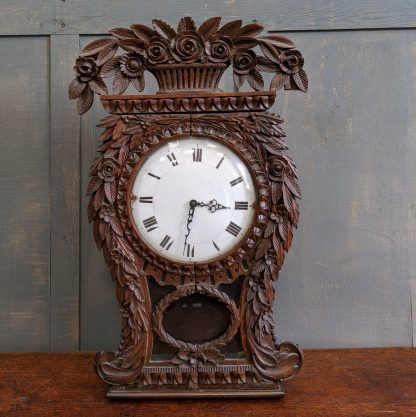Slightly Outrageous Pineapple Shaped Antique Clock Case with Face Hands & Bell