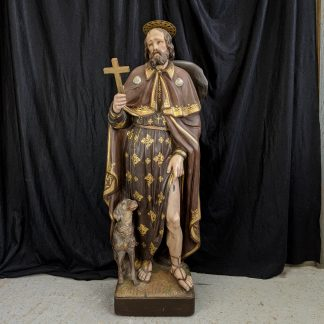 Best Ever Saint Roc with Dog Statue from the Maricolen Convent in Antwerp