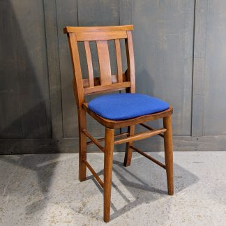 Egham 1960's Vintage Bargain Blue Upholstered Church Chapel Chairs