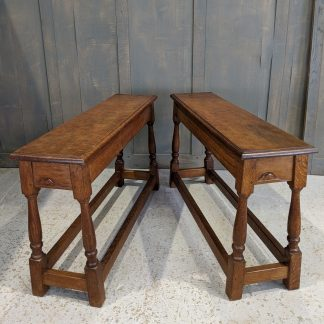 Pair of 1955 Robert Thompson 'Mouseman' Church Benches