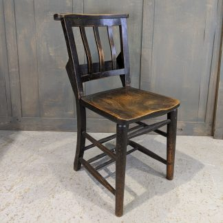 Portsmouth Older Elm Seat Slatback Church Chapel Chairs