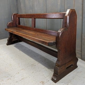 Heavy Open Back Solid Oak Church Chapel Pews from Kelsall