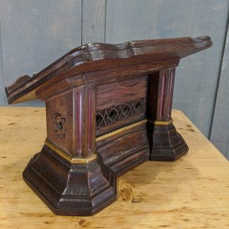 Rare Carved Early Robert Thompson 'The Mouseman' Book Stand Book Holder Missal