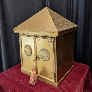 Brass and Steel Tabernacle with Pelican and Lamb