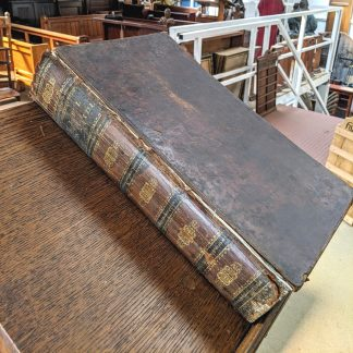 Large Very Old Looking 1823 Brown Leather Bound Welsh Language Bible