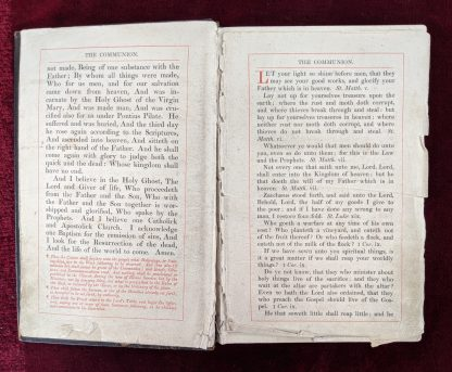 1891 Leather Bound Book of The Communion & Other Services