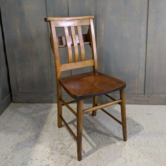 Early 1960's Vintage Slat Back Beech & Teak Church Chapel Chairs from Hove Gospel Hall