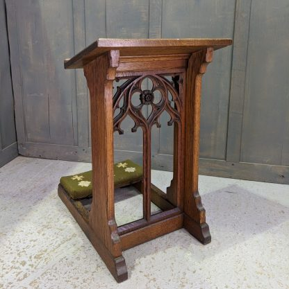 Excellent Smaller Size Antique Oak Gothic Prayer Desk Prie Dieu from Hull