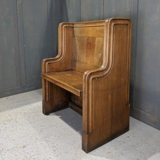 Clergy/Choirmasters Vintage Oak Pew Chair from St Stephen the Martyr, Hull