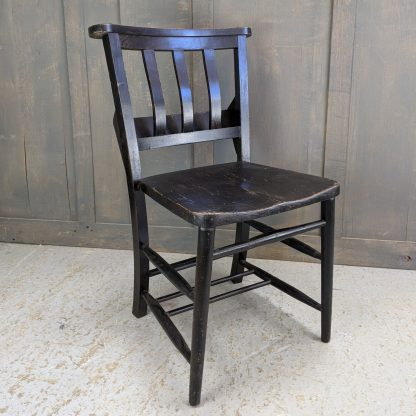 Portsmouth All Saints Extra Large Black Lacquer Church Chapel Chairs