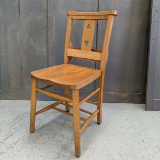 Double Cloverleaf Elm & Beech Church Chapel Chairs
