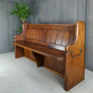 Victorian Pitch Pine Pews from St George's, Worthing with Leg & T&G Superstructure