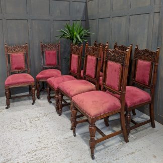 Top Quality Antique Edwardian Carved Dining Chairs