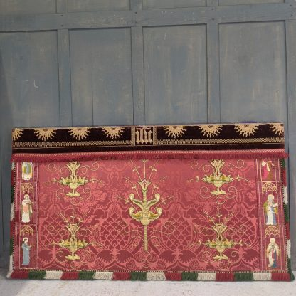 Spectacular Double Sided Antique Silk Altar Frontal with Figures