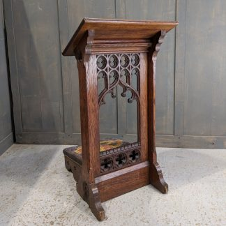 Unique Opportunity - One of Two Antique Gothic Prayer Desks Prie Dieu from Savoy Private Royal Chapel