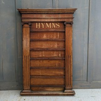Grand & Large Antique Six Hymn Oak Hymnboard with Corinthian Columns
