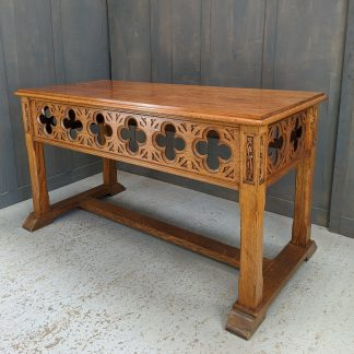 Excellent Late Gothic Quatrefoil Altar Communion Table