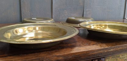 Antique Brass Church Collection Plates Alms Dishes