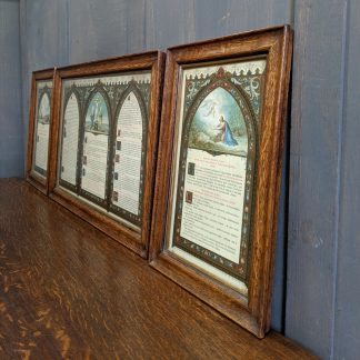 Rare Antique Traditional Latin Mass Framed Altar Cards