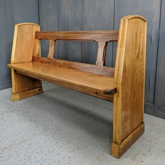 Late 1950's English Post-Modern Hardwood Church Chapel Pews Benches