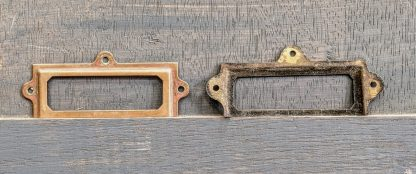 1920's Vintage Solid Brass Name Plates Holders Frames Suitable for Plan Chests, Drawers etc #7