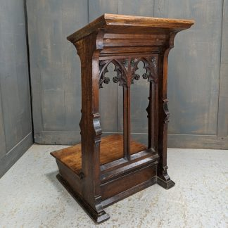 Excellent Quality Carved Oak Gothic Prie Dieu Prayer Desk