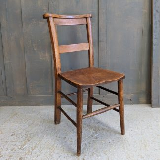 Berkhampsted 1920's Vintage Elm & Beech Church Chapel Chairs