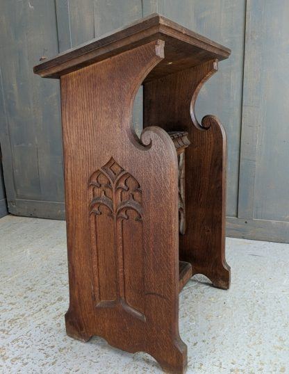 Excellent Quality 1910 Carved Gothic Oak Small Prie Dieu from St Saviours Sunbury