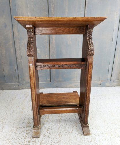 Tall Antique Baroque Carved Prie Dieu Prayer Desk from the Savoy Royal Chapel