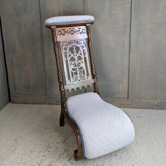 Beautifully Upholstered Prie Dieu Chair
