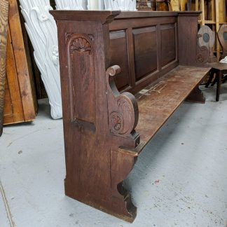 Ornate Carved Early 20th Century Solid Teak Choir Pews from St Saviours Sunbury