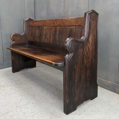 St Judes, Nottingham Antique Oak Shaped End Church Chapel Pew