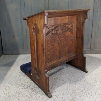 Vintage Late Gothic Oak Double Sided Large Prayer Desk Prie Dieu from Ilford