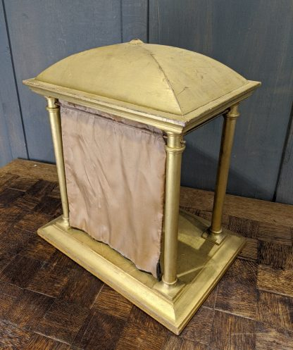 Gold Painted Wooden Stand Display Case for Reliquary, Small Statue Etc.