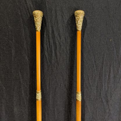 Highly Unusual Pair of Warden's Staves from a Private Chapel