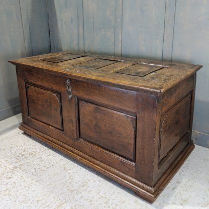 18th Century Early Georgian Antique Panelled Coffer Mule Chest Kist
