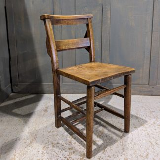 Primrose Hill Classic Early 1900's Elm & Beech Church Chairs with Racks