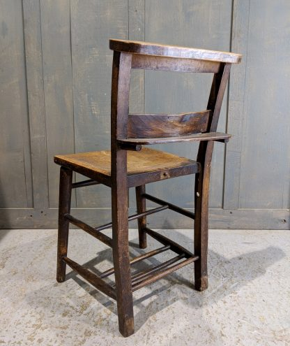 Primrose Hill Classic Late 1890's Elm & Beech Church Chairs with Shelves