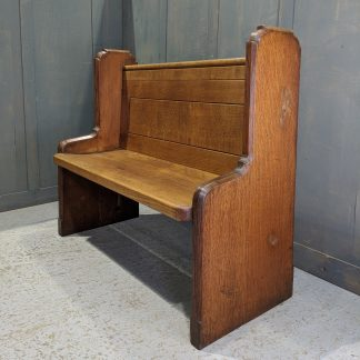 Tall Ended Solid Oak Vintage Church Chapel Pew Benches from Bristol