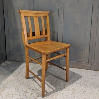 Grantham 1960's Vintage Beech Slatback Chapel Church Chairs
